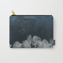 Night in Blue and White Carry-All Pouch