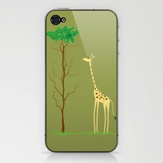 tree v giraffe iPhone & iPod Skin
