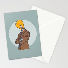 Light Bulb Head Stationery Cards