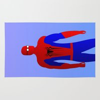spider man Area & Throw Rugs featuring Spider Man by pablosiano