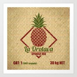 La Orotava Valley pineapple basket Art Print