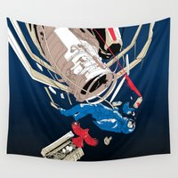 gravity Wall Tapestries featuring gravity by wonman kim