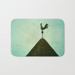 Colonial Rooster Bath Mat
