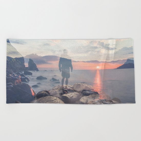 Mirrored Thoughts Beach Towel