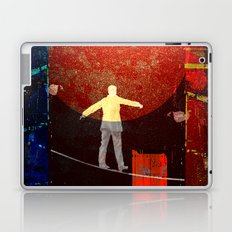 Tightrope walker in the city Laptop & iPad Skin