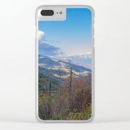 Blue Ridge Peaks Clear iPhone Case