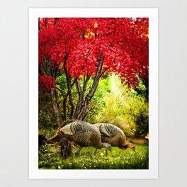 Wild Turkeys Art Print