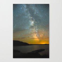 Milky Way Galaxy in Manitoba Canvas Print