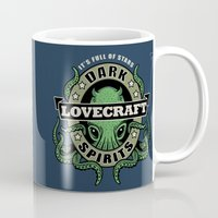 lovecraft Mugs featuring Lovecraft Dark Spirits by Rebekie Bennington