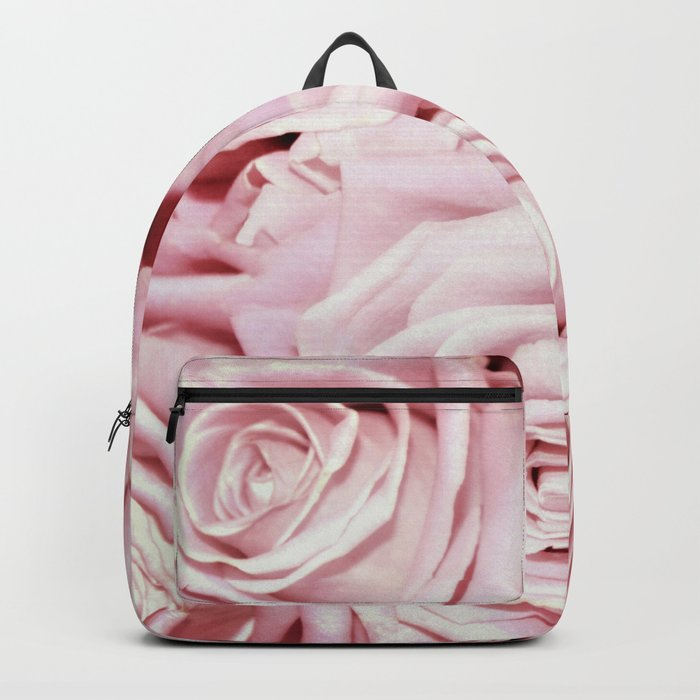 Beautiful bed of pink roses- Floral Rose Flowers Backpack