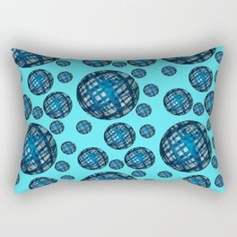 Floating Blue Sphere or Ovoid Pattern 01 Rectangular Pillow