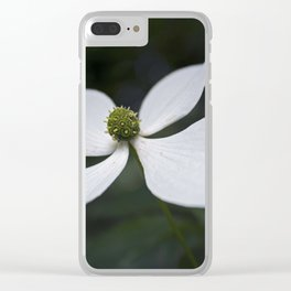 White flower vintage Clear iPhone Case