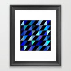 Blue Triangle Pattern (2013) Framed Art Print