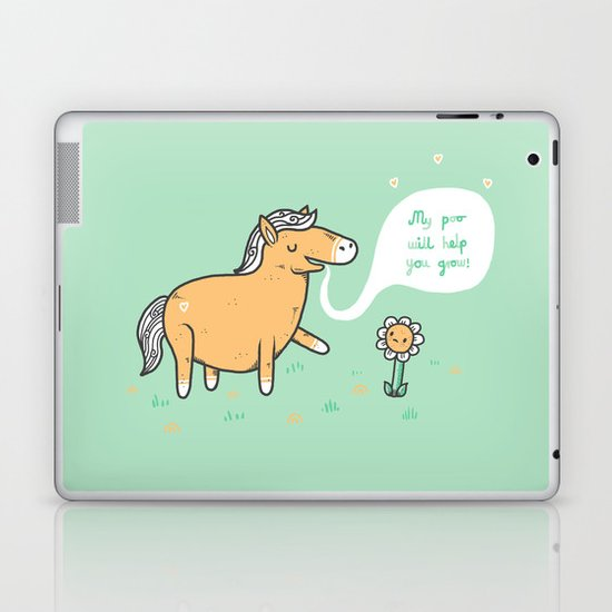 My poo will help you grow! Laptop & iPad Skin