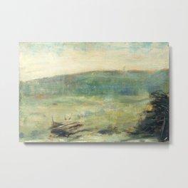 Georges Seurat - Landscape at Saint-Ouen Metal Print