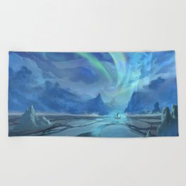 Floki Discovers Iceland Beach Towel