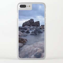 Long exposure blue hour seascape Rocky Beach amazing scenery Clear iPhone Case