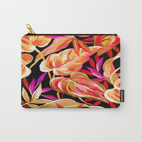 fall tropical leaves Carry-All Pouch