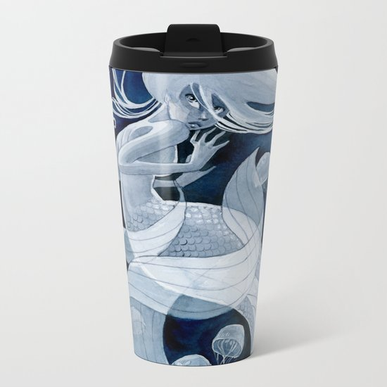 Jellyfish Mermaid Metal Travel Mug