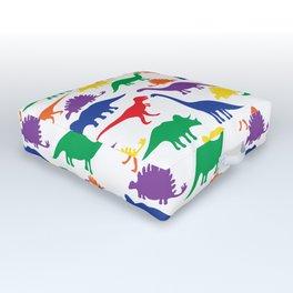 Dinosaurs - White Outdoor Floor Cushion