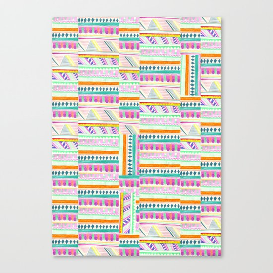multicoloured AZTEC + Canvas Print