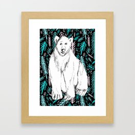 Arctic Polar Bear Framed Art Print