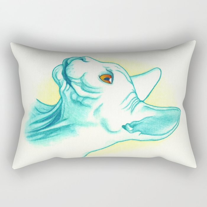 Sphynx cat #01 Rectangular Pillow