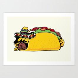 Pug Taco Art Print