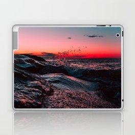 Pink ocean from sunset Laptop & iPad Skin