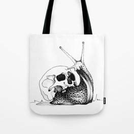 This Skull Is My Home (Snail & Skull) Tote Bag