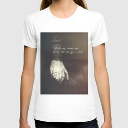 The Journey. Holding hands plus quote. T-shirt