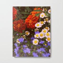 Flowerbed Metal Print
