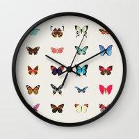 butterflies Wall Clocks featuring Butterflies by Dorothy Leigh