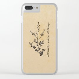 Walt Whitman - All truths Clear iPhone Case