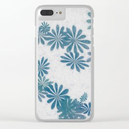 Blue torquise Clear iPhone Case