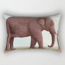 One Amazing Elephant - Back Cover Art Rectangular Pillow