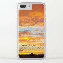 Set your life on fire - Sunset Madras Oregon Clear iPhone Case