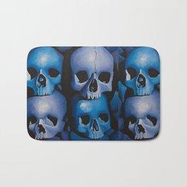Blue & Purple Skulls Bath Mat