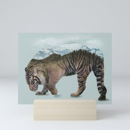 Bowing Tiger Mini Art Print