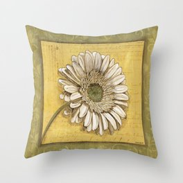 Bohemian Daisy Throw Pillow