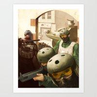 metal gear Art Prints featuring Metal Gear by DarkPug