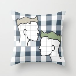 Life in gingham Throw Pillow