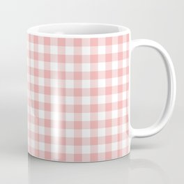 Lush Blush Pink and White Gingham Check Coffee Mug