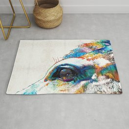 Colorful Horse Art - A Gentle Sol - Sharon Cummings Rug