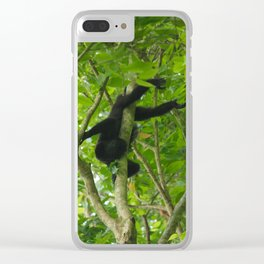 Hanging Out (color) Clear iPhone Case