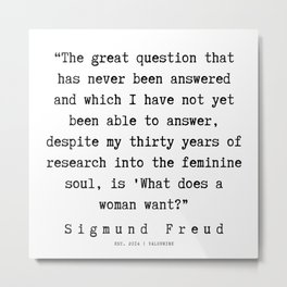 6 |   Sigmund Freud Quotes | 190926 Metal Print