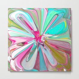 234 - Abstract flower design Metal Print