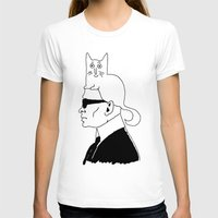 karl lagerfeld T-shirts featuring Karl & Choupette by cvrcak