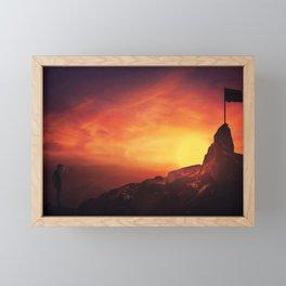 man reaching goals Framed Mini Art Print