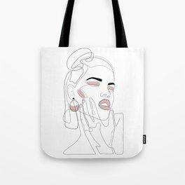 Blush Splash Tote Bag